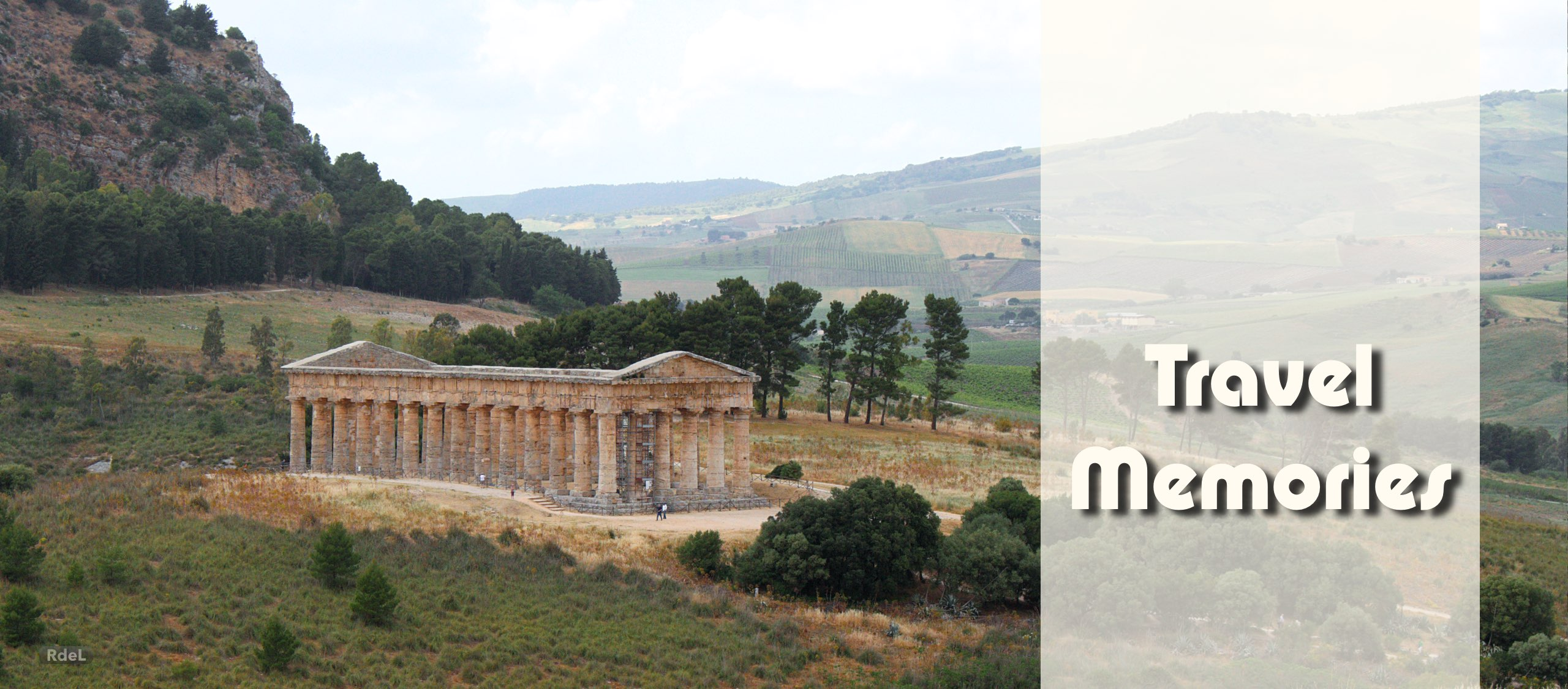 cover photo website Travel Memories, by Ronald de Lange; Greek temple of Segesta, Sicily, Italy, in May 2015